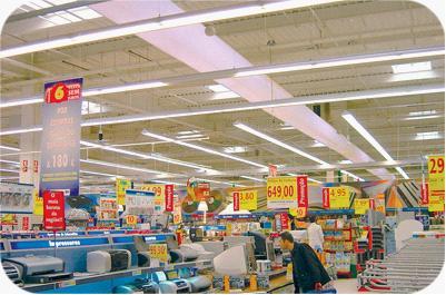 商场超市 —法瑞风管系统在商场超市的应用
